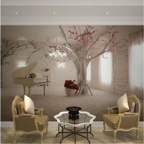 $17.65- Custom Any Size 3D Wall Mural Wallpapers For Living RoomModern Fashion Beautiful Photo Murals Tree Wallpaper