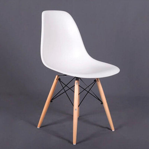 Factory Pp Dining Chair Living Room Furniture Beech Wood Dowel Legs Side Chair