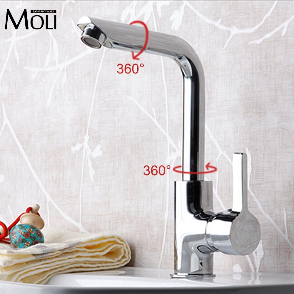 $50.15- Bathroom Faucets Mixer 720 Degree Swivel Easy Wash For Basin Sink Kitchen Faucet