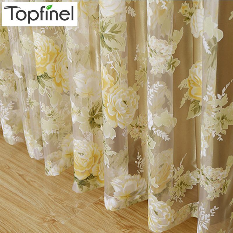 $15.18- Hot Rose Modern Tulle For Windows Shade Sheer Curtains Fabric For Kitchen Blinds Living Room The Bedroom Window Treatments
