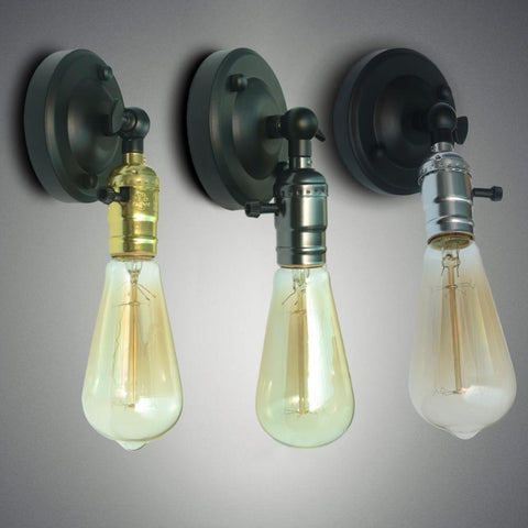 $12.50- Vintage Led Lamparas Wall Lamp Bedroom Led Light Cabinet Lamparas Applique Home Decoration Dining Room Restaurant Sconce Light