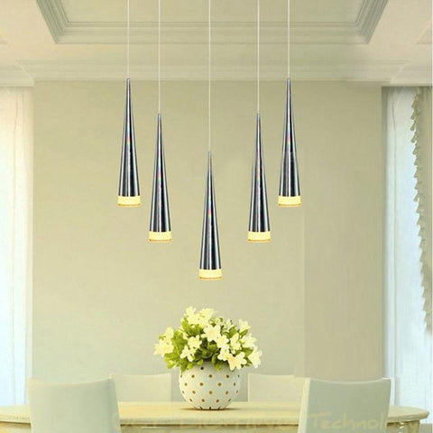 $67.28- Modern Led Pendant Lamps Living Room Acrylic Stainless Restaurant Bedroom Decorative Pendant Lights Lamparas Home Lighting Lampe
