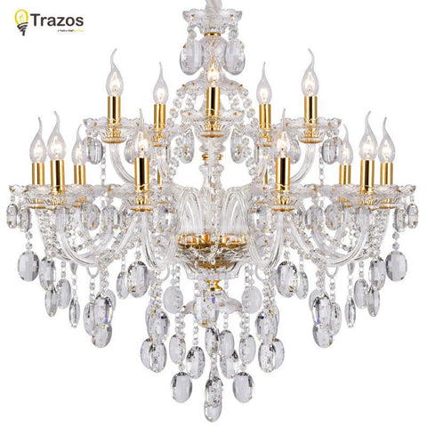 $251.36- Luxury Crystal Chandelier For Living Room Lustre Sala De Jantar Cristal Modern Chandeliers Light Fixture Wedding Decoration
