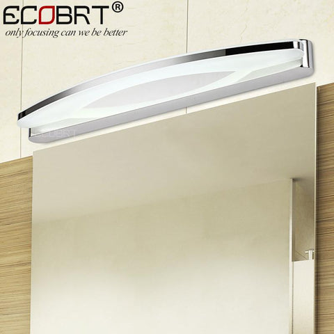 ECOBRT Modern 12W 54CM LED wall lamps bedroom bedside lamps banheiro 8W LED bathroom lights 39cm Long wall sconces lampe deco