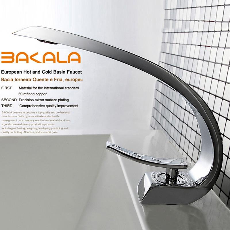 $120.94- Bakala Modern Washbasin Design Bathroom Faucet Mixer Waterfall Hot Cold Water Taps For Basin Of Bathroom F61011