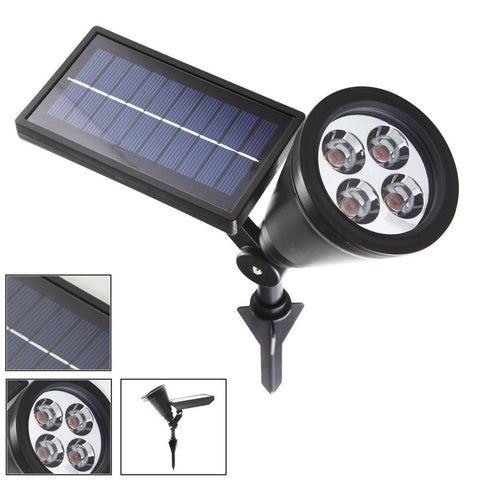 5Pcs/Lot Led Outdoor Solar Sun 3 Leds Buried Lamps Led Garden Lawn Light Solar Sun Powered Underground Lights Green Blue Red White