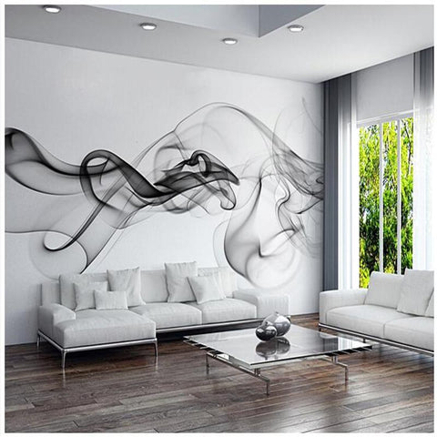 $20.17- Custom 3D Photo Wallpaper Smoke Clouds Abstract Artistic Wall Paper Modern Minimalist Bedroom Sofa Tv Wall Mural Paper Painting