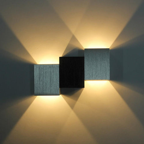 $35.10- Ecobrt 2*3W High Power Led Wall Light Up&Down Modern Wall Lights Aluminum Wall Lamp For Stair Step Bedside Home Indoor Bedroom