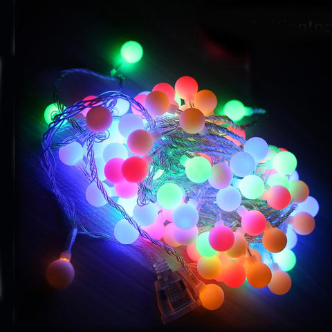 $19.40- Tanbaby 10M Led String Lights W/ 80Led Ball Ac220V Holiday Decoration Lamp Festival Christmas Lights Outdoor Lighting