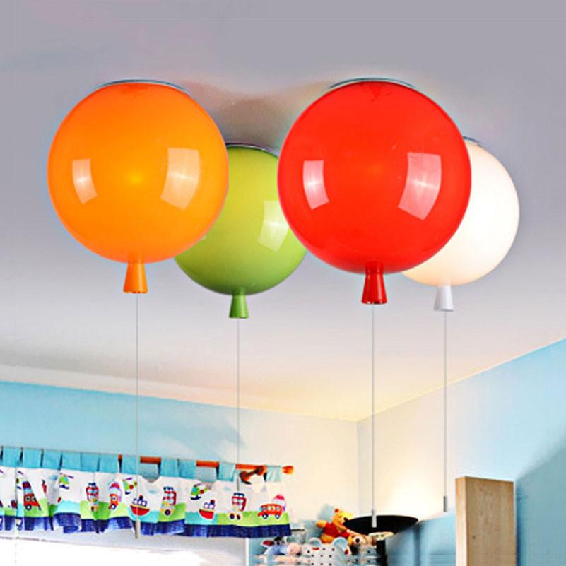 $27.00- D250Mm Balloon Shape Ceiling Lamps Children Room Cute Ball Lampshade Living Dining Room Decoration Lighting