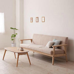 $620.08- Simple Detachable Small Sofa Small Single Solid Wood Sofa Combinationfurniture