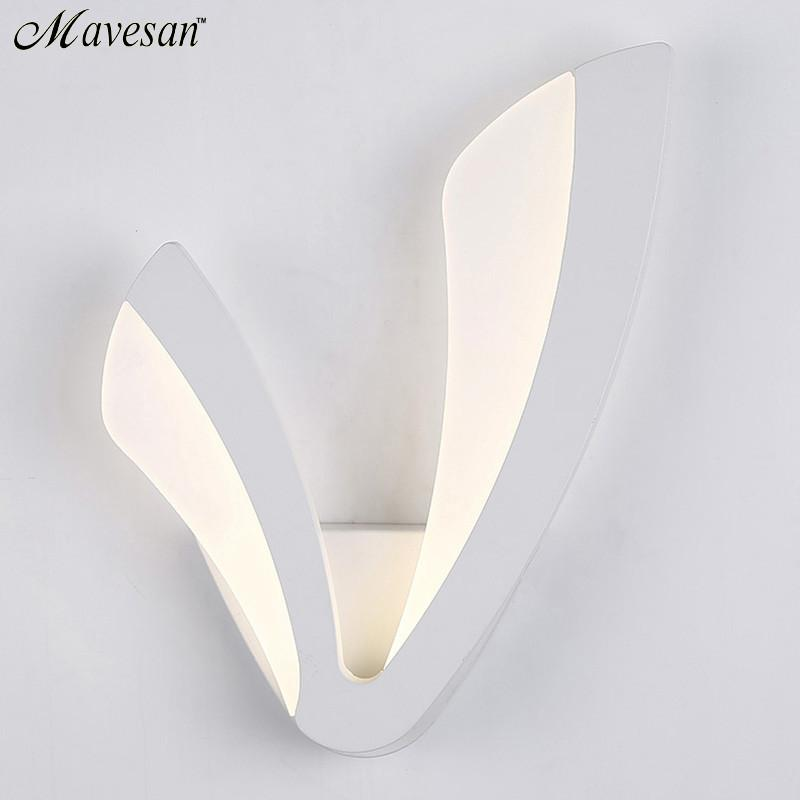 $57.47- Modern Led Wall Lamp For Bathroom Bedroom 12W Wall Sconce White Indoor Lighting Lamp Ac100265V Led Wall Light Indoor Lighting