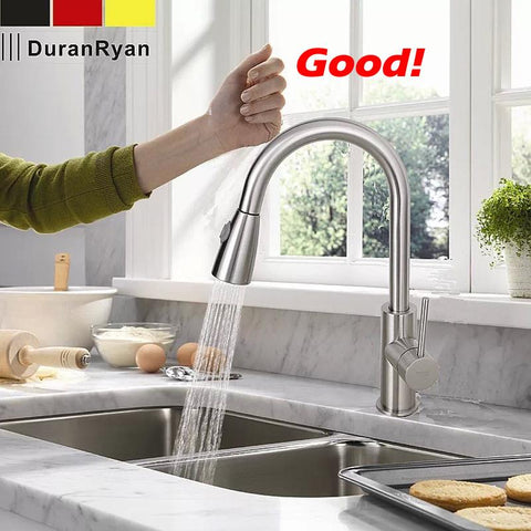 $108.38- Est Pull Out Spray Kitchen Faucet Mixer Tap Brushed Nickel Single Hand Kitchen Tap Mixer Brass Lh8105