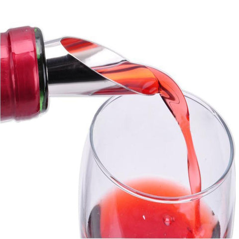 $1.64- 2In1 Red Wine Champagne Stainless Steel Silicone Pouring Device Cork Wine Stopper Wine Pourer Wine Decanter Whisky Stone Fresh