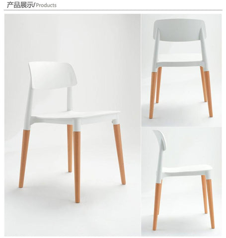 Wood & Plastic chairwood dining chairliving room furniturefashion chairred Whiteblack Plastic office chair
