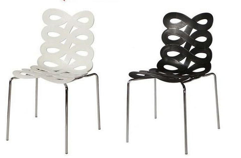 The Fashion Art Dining Chair Hollow Chairs Plastic Metal Metal FurnitureModern Dining Room Chairs