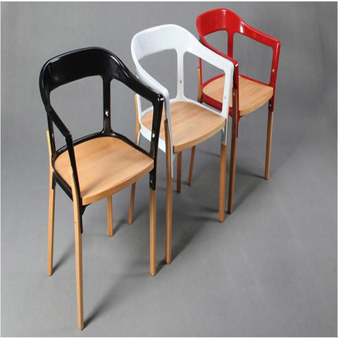 $1153.35- 2 X Bouroullec Steelwood Chair. Dinning Chairs.Dinning Room FurnitureW/ Arm ChairMetal Wood Furniture