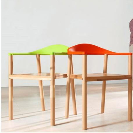 Hot New Arm ChairFashion Oak ChairWooden Dining ChairLiving Room FurnitureWood Plastic FurnitureColors Chair