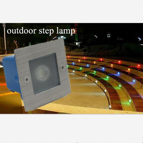 $14.63- 85~265Vled Waterproof 1W Underground Lights Outdoor Step Stairs Lights For Garden Patio Landscape Decoration Lamp