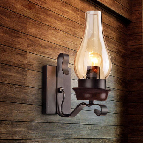 $85.21- Retro Wall Lamp Loft Industrial Personalized Restaurant Iron Aisle Wall Light
