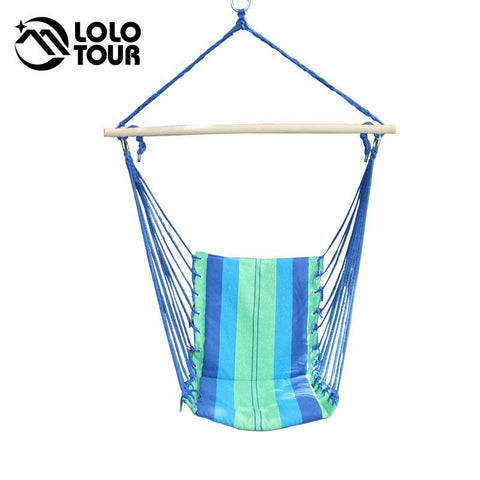 $109.98- Indoor Outdoor Garden Patio Swing Single Children Hanging Camping Chair Hangmat Hammocks Outdoor Furniture Canvas Red Blue Sw12