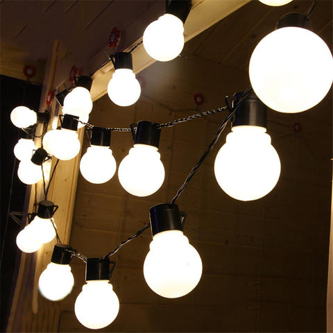 G40 String Lights W/ 25 G40 Clear Globe Bulbs Listed For Indoor/Outdoor Vintage Backyard Wedding Decoration String Lights