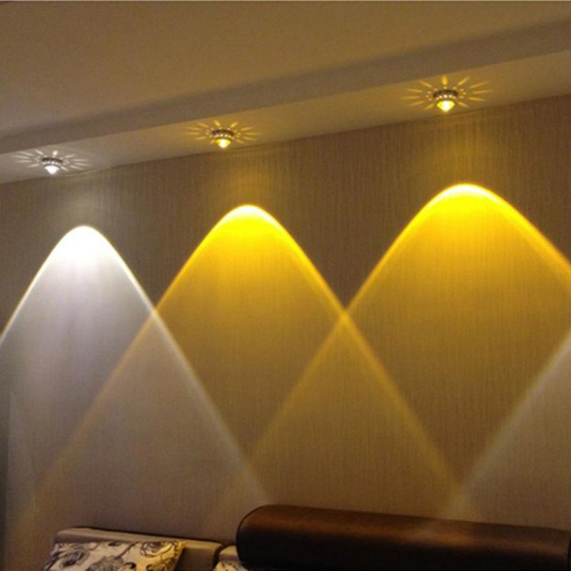 $18.88- 3W Crystal Led Ceiling Lights Restaurant Ktv Aisle Living Room Balcony Lamp Modern Led Lighting For Home Decoration Luminaire