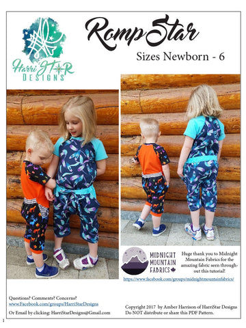 The RompStar Romper PDF Pattern