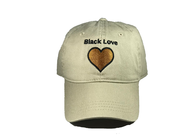 68a7e85acdd Khaki Black Love Dad Hats