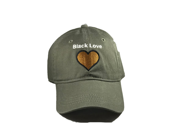 d2744a71e26 Olive Black Love Dad Hats