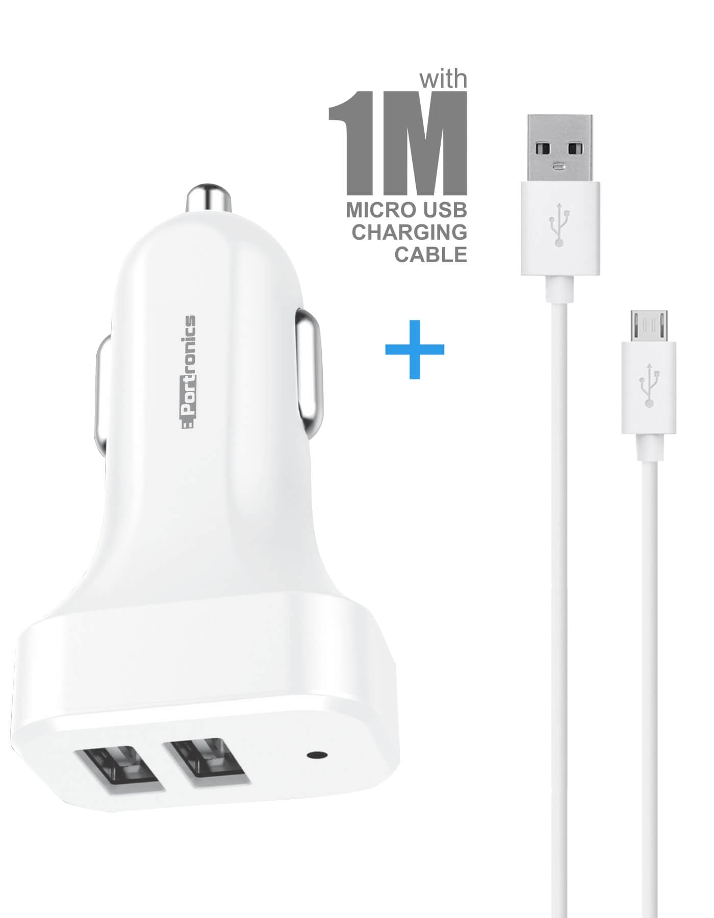 it comes with 1meter micro usb charging cable