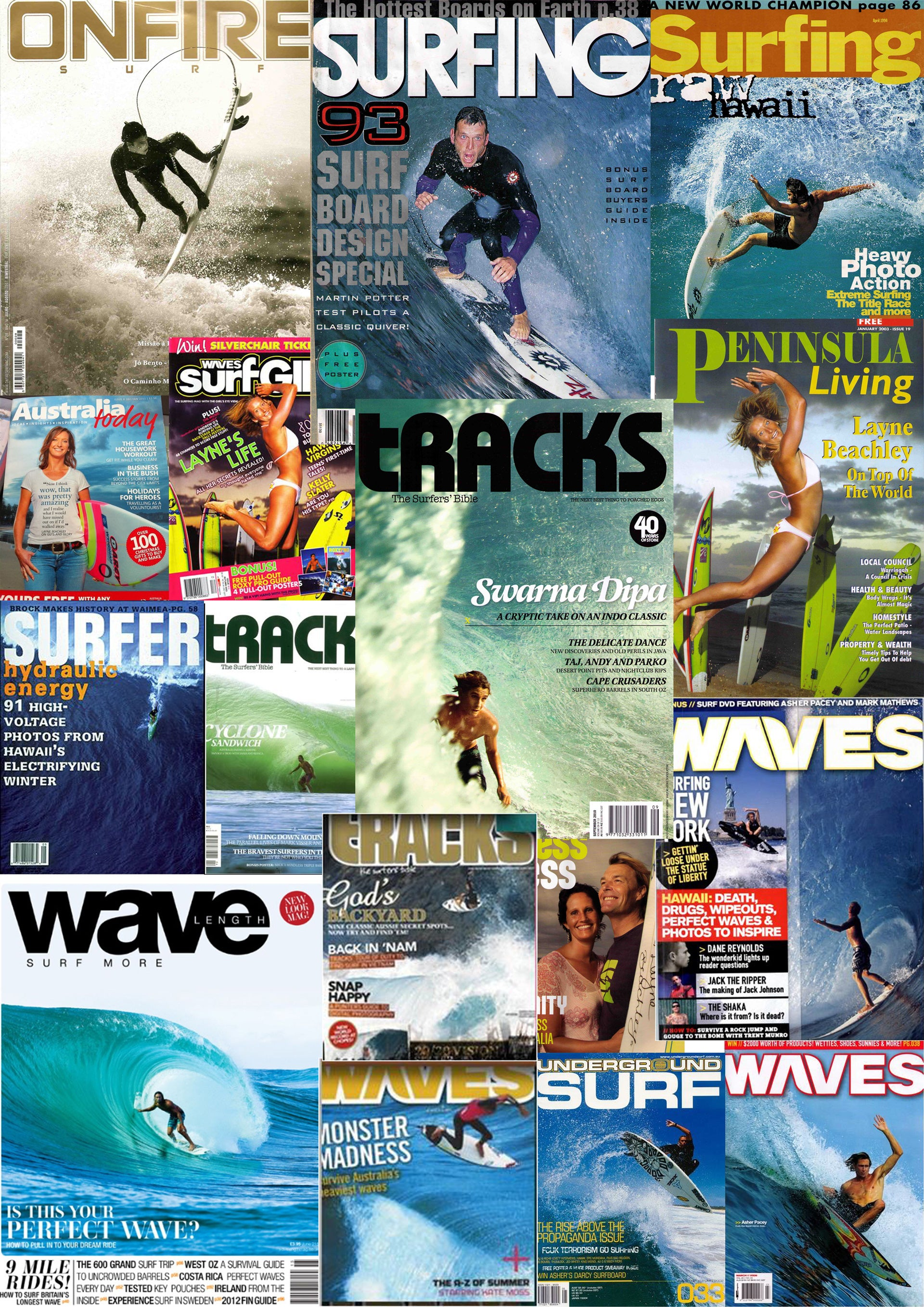 Darcy Surfboard Surf Magazine Covers