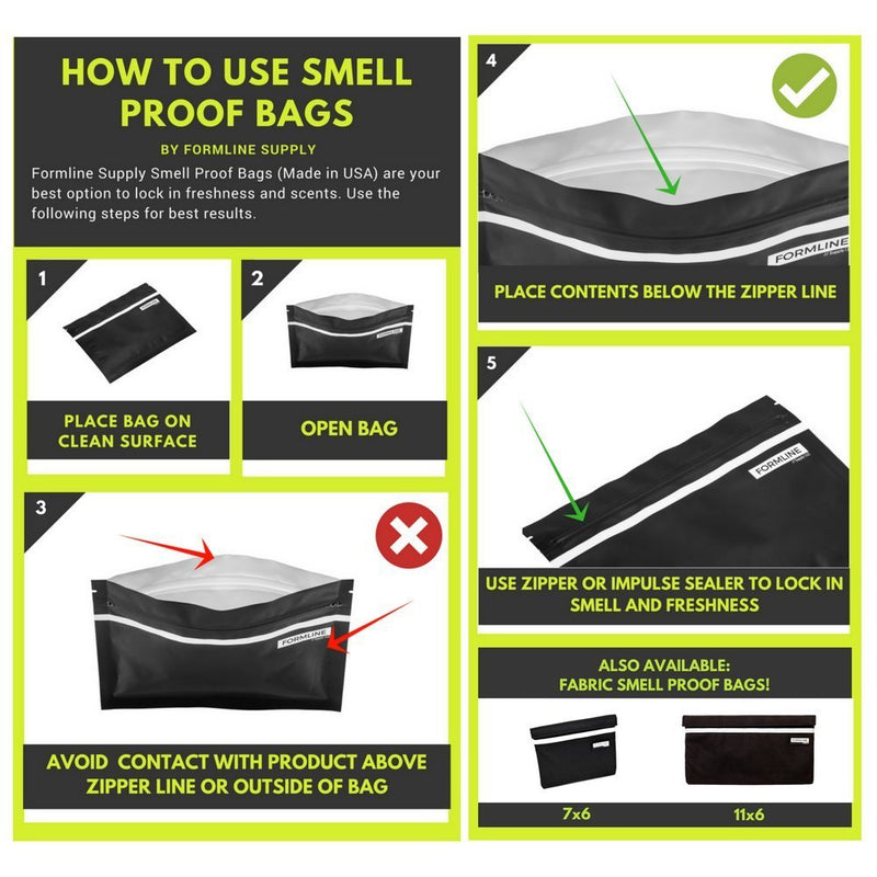 How to use a mylar smell proof bag from Formline Supply