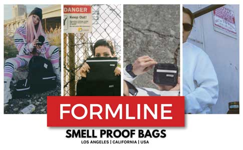 Formline Smell Proof Bag 12 inches by 9 inches with combo lock