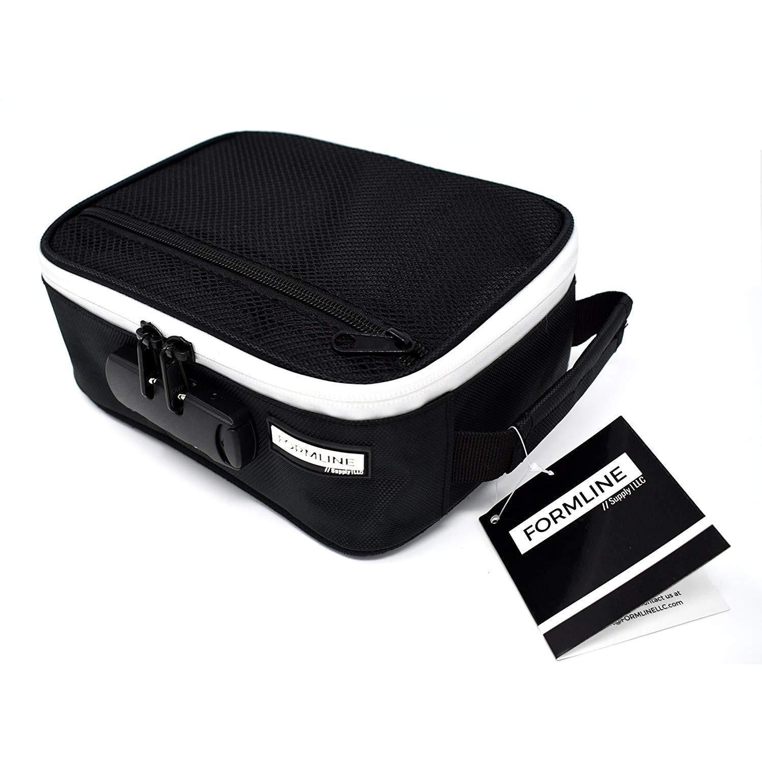 Formline Smell Proof Case with Combination Lock 8x6x3 - Premium Odor Proof Bag for Herb Grinders, Pax Vaporizers & Rolling Accessories. Eliminate Odor - No Smell Escapes this Discreet Stash Container.