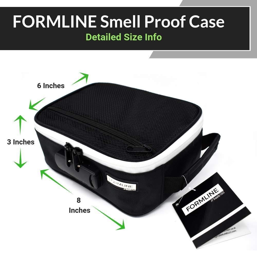 8e63294d822e Smell Proof Case / Bag with Combination Lock (8 x 6 x 3 Inches ...