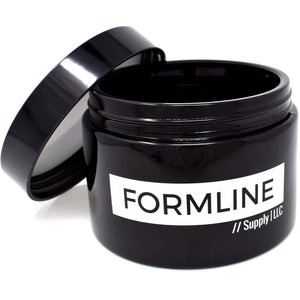 Formline 1/2 oz Smell Proof Container (250 ml) - Airtight Stash Jar w/Black Ultraviolet Glass