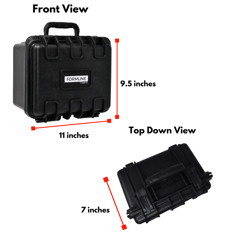 Formline Smell Proof Case - Large Airtight Hard Case with Foam for Glass Protection