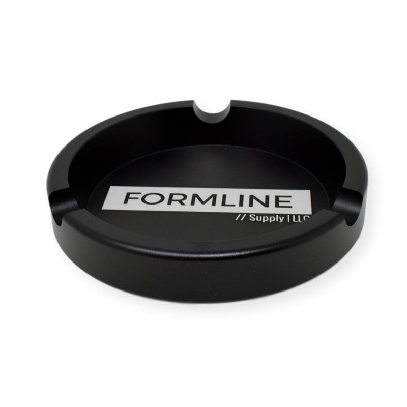Formline Supply Black Aluminum Ashtray - Compact Portable and Indestructible