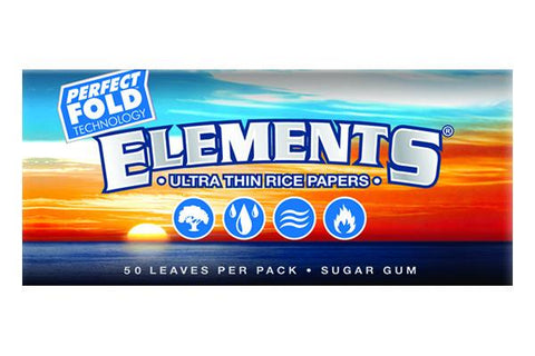 ELEMENTS - Ultra Thin Rice Papers - Perfect Fold - 1 1/4