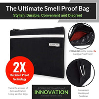 "Formline Supply Smell Proof Bag (9""x7"") Elite Series with Zipper Closure"