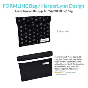 Formline x HarplerLynn Smell Proof Bag - Premium Odor Proof Travel Pouch with Mesh Divider
