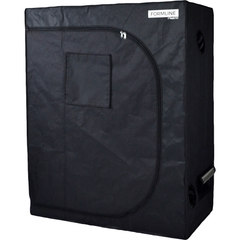 "Formline Supply Grow Tent 48""x24""x60"" - Black 2x4 Mylar Hydroponic Garden Tent Desiged for Growing Plants Indoors - Includes Floor Tray, Carbon Filter Ties and 2 Rope Hangers"