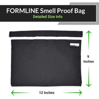 Large Smell Proof Bag (12 x 9 Inches) with Patent Pending 2X Activated Carbon Lining