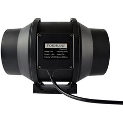 Formline Supply 6 inch Inline Duct Fan with Variable Speed Controller - 390 CFM Exhaust Blower Provides a Durable Low Noise Solution for Grow Tent Ventilation