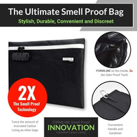 "Formline Supply Large Smell Proof Bag with Combination Lock (12"" x 9"")"