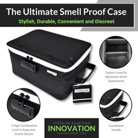 "Extra Large Smell Proof Case - Built in Combination Lock (12""x9""x6"")"