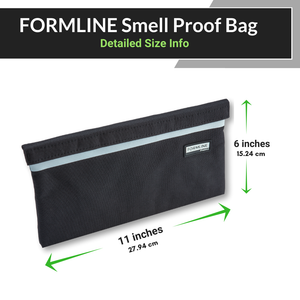 Formline Smell Proof Bag (11x6 inches)  - Premium Pouch with Dual Mesh Organizer Pockets