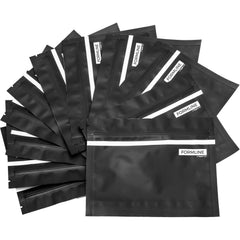 FORMLINE Smell Proof Bags (20 Pack) - 4x6 Inches of Usable Space in Each 7x5.5 Inch Bag - Designed to Lock in Smelly Odor and Preserve Herb Freshness - Fits Most Compact Vaporizers - Made In USA