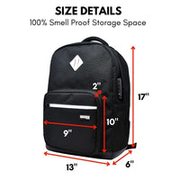Formline Smell Proof Backpack with Combination Lock